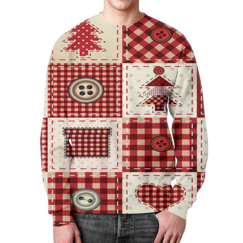 Свитшот мужской с полной запечаткой Printio Новогодний узор свитшот унисекс с полной запечаткой printio новогодний свитер