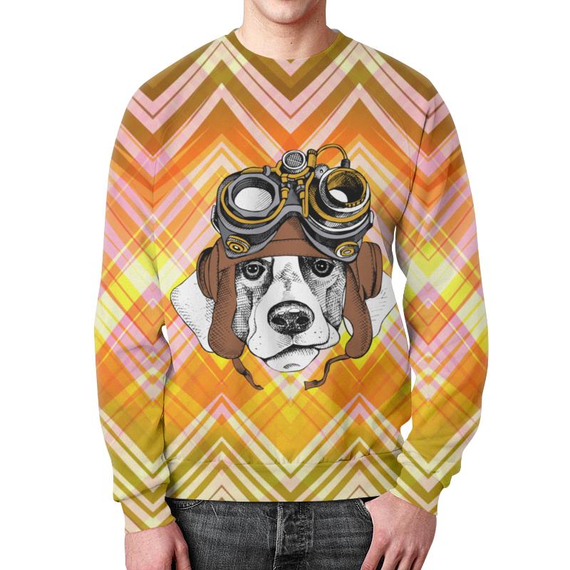 Свитшот мужской с полной запечаткой Printio Пес летчик футболка с полной запечаткой для мальчиков printio пес летчик
