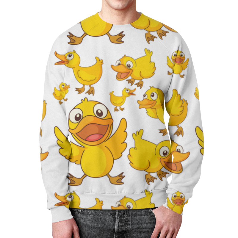 Свитшот мужской с полной запечаткой Printio Ducks худи print bar reservoir ducks