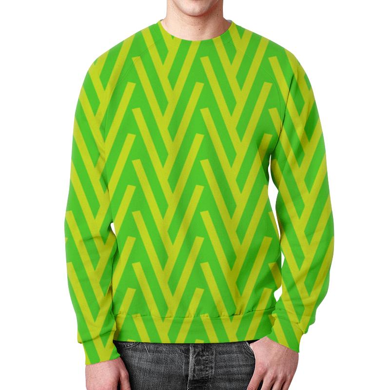 Свитшот унисекс с полной запечаткой Printio Желто-зеленый узор футболка с полной запечаткой женская printio желто зеленый узор