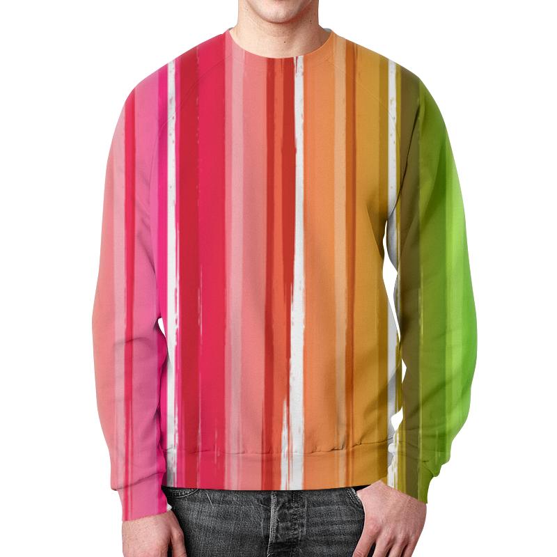 лучшая цена Свитшот мужской с полной запечаткой Printio Цветная радуга