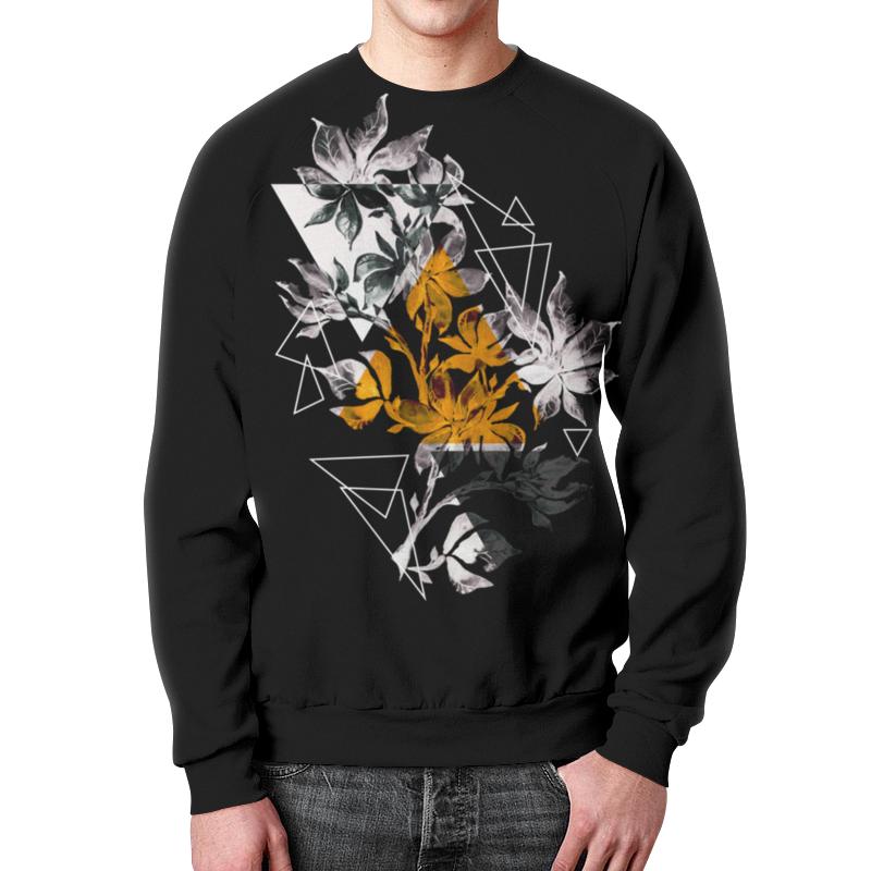 Свитшот мужской с полной запечаткой Printio Современный дизайн треугольники и цветы (1) halojaju современный и контрактный