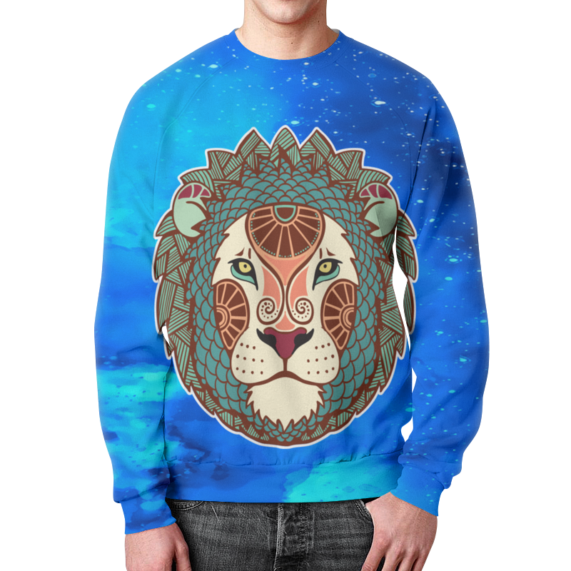 Свитшот мужской с полной запечаткой Printio Зодиак-лев детский свитшот унисекс printio зодиак лев