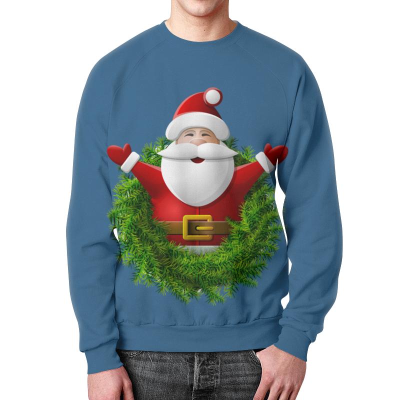 Свитшот мужской с полной запечаткой Printio Санта свитшот мужской с полной запечаткой printio санта и подарки