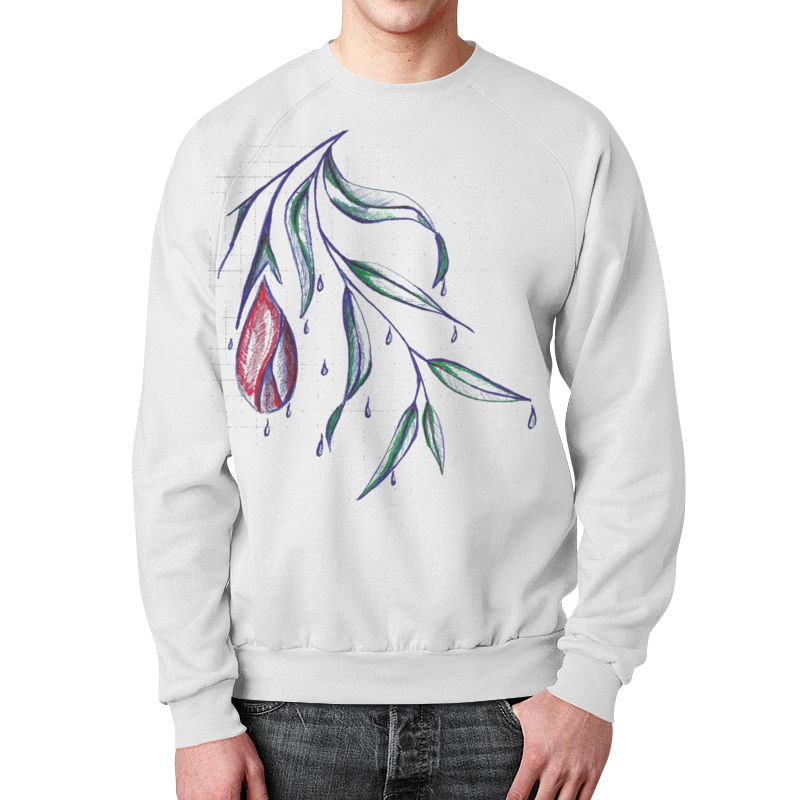 Свитшот унисекс с полной запечаткой Printio Аленький цветочек аленький цветочек