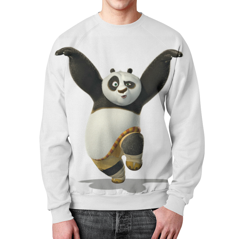 Свитшот мужской с полной запечаткой Printio Мишка панда. свитшот унисекс с полной запечаткой printio панда коп