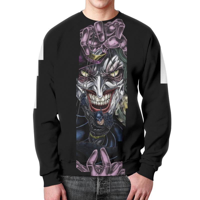 Свитшот унисекс с полной запечаткой Printio Joker & batman лонгслив printio batman x joker
