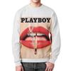 """Свитшот унисекс с полной запечаткой """"Playboy Губы"""" - playboy, плейбой, плэйбой"""