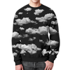 "Свитшот мужской с полной запечаткой ""The clouds"" - небо, облака"
