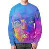 """Свитшот мужской с полной запечаткой """"The Color Out of Space"""" - цвета, лицо, digital 2d"""