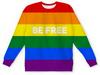 """Свитшот унисекс с полной запечаткой """"BE FREE"""" - лгбт, лесби, лесбиянка, буч, tomboy"""
