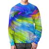 "Свитшот мужской с полной запечаткой ""Abstract Rainbow"" - радуга, цвета, краски, абстракция"