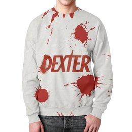 """Свитшот унисекс с полной запечаткой """"Декстер (Dexter)"""" - dexter, декстер, кровь, tv"""