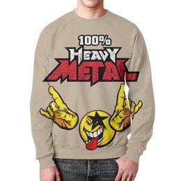 """Свитшот унисекс с полной запечаткой """"Heavy Metal Art"""" - rock n roll, heavy metal, рок музыка, хеви метал, рок эн ролл"""