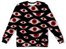 "Свитшот унисекс с полной запечаткой ""Глаза"" - хеллоуин, vampire, вампир, hellsing, хеллсинг"