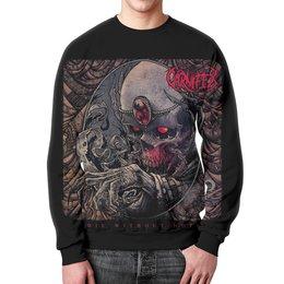 """Свитшот унисекс с полной запечаткой """"Carnifex band"""" - skull, череп, death metal, рок музыка, carnifex"""