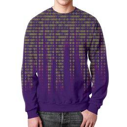 """Свитшот мужской с полной запечаткой """"Числа"""" - знаки, символы, цифры, числа, пароль"""