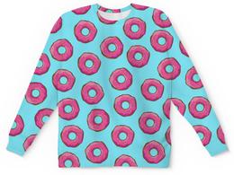 """Свитшот унисекс с полной запечаткой """"Пончики"""" - пончики, пончик, donuts, wax, с пончиками"""