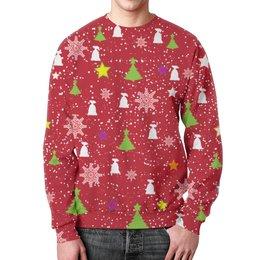 "Свитшот унисекс с полной запечаткой ""Happy New Year (Счастливый Новый Год)"" - happy new year, подарок, дед мороз, елка, merry cristmas"
