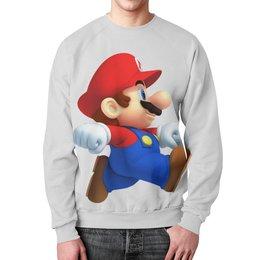 """Свитшот мужской с полной запечаткой """"Super Mario"""" - super mario, супер марио"""