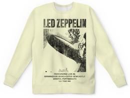 "Свитшот унисекс с полной запечаткой ""Led Zeppelin"" - музыка, рок, группы, rock and roll, led zeppelin"