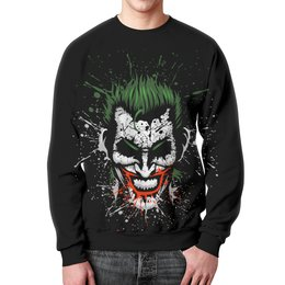 """Свитшот унисекс с полной запечаткой """"Джокер"""" - джокер, joker"""
