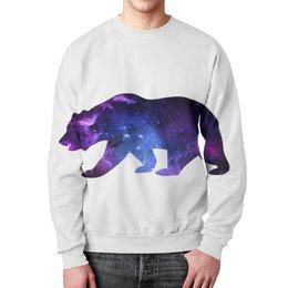 """Свитшот мужской с полной запечаткой """"Space animals"""" - space, bear, медведь, космос, астрономия"""