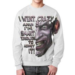 """Свитшот мужской с полной запечаткой """"Джокер"""" - joker, batman, джокер, дизайнерская футболка, usmanart"""