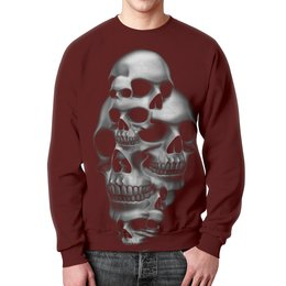 """Свитшот мужской с полной запечаткой """"Skull Art"""" - skull, череп, арт, черепа, рисунок"""