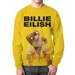 "Свитшот мужской с полной запечаткой ""Billie Eilish"" - bad guy, billie eilish, билли айлиш, bellyache, when we all fall asleep where do we go"