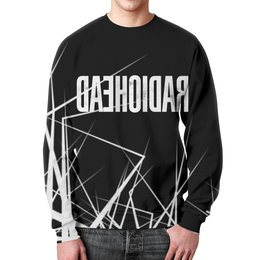 "Свитшот мужской с полной запечаткой ""Radiohead"" - музыка, рок, группы, radiohead, радиохед"