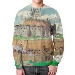 """Свитшот унисекс с полной запечаткой """"Небесный замок Лапута"""" - хаяо миядзаки, небесный замок лапута"""
