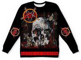 "Свитшот унисекс с полной запечаткой ""SLAYER South Of Heaven 1988"" - музыка, рок, металл, slayer, thrash metal"