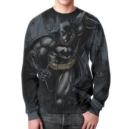 """Свитшот мужской с полной запечаткой """"Бэтмен"""" - комиксы, джокер, супергерои, бэтмен, dc комиксы"""