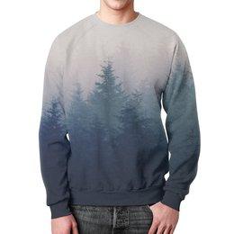 """Свитшот мужской с полной запечаткой """"Forest"""" - стиль"""