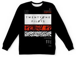 """Свитшот унисекс с полной запечаткой """"Twenty One Pilots"""" - музыка, группы, twenty one pilots, twenty øne piløts"""