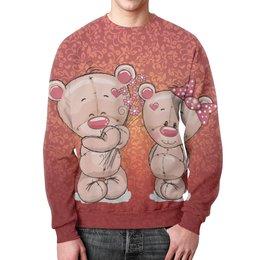 """Свитшот унисекс с полной запечаткой """"Влюбленные мишки Тедди"""" - парные, тедди, мишки тедди, teddy"""