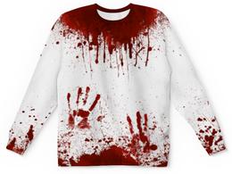 """Свитшот унисекс с полной запечаткой """"Кровь"""" - хэллоуин, зомби, кровь, маньяк, в крови"""