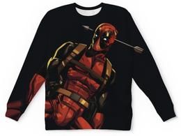 "Свитшот унисекс с полной запечаткой ""Deadpool"" - комиксы, deadpool, дэдпул"