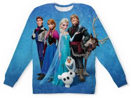 """Свитшот унисекс с полной запечаткой """"Frozen"""" - арт, frozen, elsa, anna, холодное сердце"""