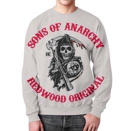 """Свитшот мужской с полной запечаткой """"Sons Of Anarchy"""" - кино, сериал, sons of anarchy, байкеры, сыны анархии"""