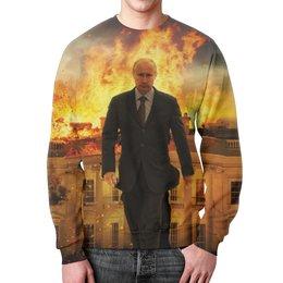 """Свитшот мужской с полной запечаткой """"Путин (Putin)"""" - путин, putin"""