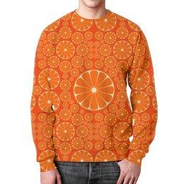 """Свитшот унисекс с полной запечаткой """"Апельсины"""" - лето, позитив, summer, orange, апельсин"""