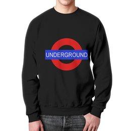 """Свитшот мужской с полной запечаткой """"Underground"""" - арт, стиль, london, underground"""