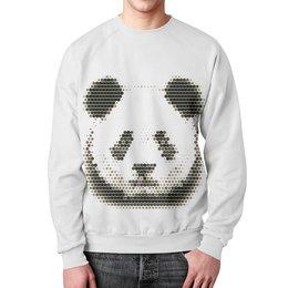 """Свитшот унисекс с полной запечаткой """"Панда """" - арт, авторские майки, панда"""