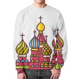 """Свитшот унисекс с полной запечаткой """"Москва"""" - люблюмоскву"""