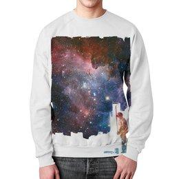 """Свитшот унисекс с полной запечаткой """"Перекрашивание"""" - space, космос, абстракция, галактика, пространство"""