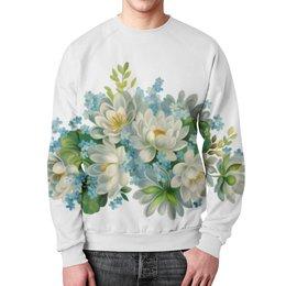 """Свитшот унисекс с полной запечаткой """"Ты цветы"""" - любовь, лето, цветы, россия"""