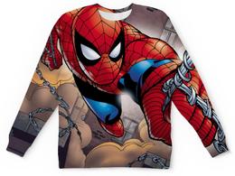 """Свитшот унисекс с полной запечаткой """"Человек-паук (Spider-man)"""" - spider-man, человек-паук"""