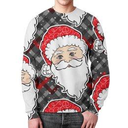 "Свитшот унисекс с полной запечаткой ""Дед мороз"" - дед мороз, санта, нг"